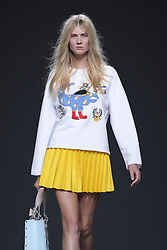 September 20, 2016 - Madrid, Spain - A model walks on the runway at the ANNA K of  Kiev show during Mercedes-Benz Fashion Week Madrid Spring/Summer 2017 at Ifema on September 19, 2016 in Madrid, Spain. (Credit Image: © Oscar Gonzalez/NurPhoto via ZUMA Press)