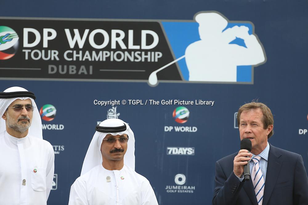 George O'GRADY Chief Executive of European Tour during fourth round DP World Tour Championship 2013,Jemeirah Golf Estates, Dubai,UAE.