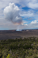 Volcano National Park - Volcanoes have created the Hawaiian Island chain. Kilauea and Mauna Loa, two of the world's most active volcanoes, are still adding to the island of Hawaii. Mauna Loa is the most massive mountain on Earth occupying an estimated volume of 20,000 cubic miles.  Research at the Hawaiian Volcano Observatory makes Kilauea one of the best understood volcanos in the world.  Visitors can experience some of the volcano's power in limited trails at Vocano National Park.