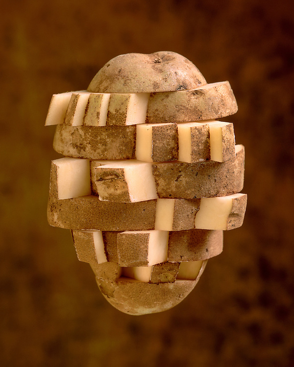 Edition of 49 includes all sizes<br /> Potato Still Life Diced Potato. First images in the Potato Series