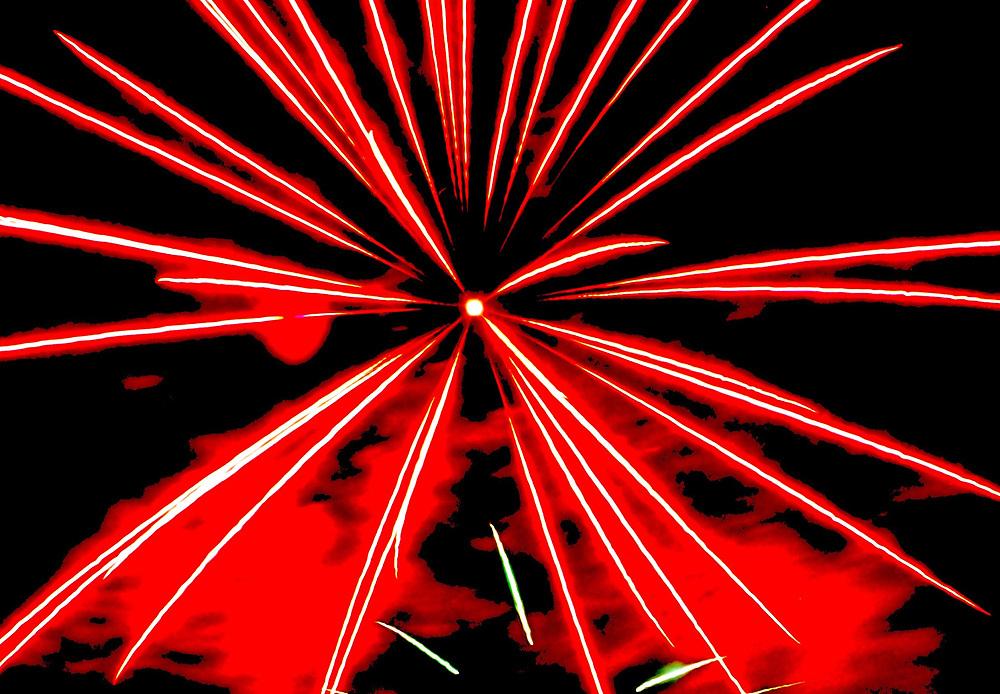 Single burst, Fireworks, West Reading, Berks Co., PA
