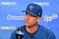 August 29, 2017 - Kansas City, MO, USA - Kansas City Royals starting pitcher Danny Duffy talks about being cited for a DUI during a news conference at Kauffman Stadium in Kansas City, Mo., before a game against the Tampa Bay Rays on Tuesday, Aug. 29, 2017. (Credit Image: © John Sleezer/TNS via ZUMA Wire)