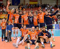 31-05-2015 NED: CEV EK Kwalificatie Nederland - Spanje, Doetinchem<br /> Nederland wint met 3-1 van Spanje en plaatst zich voor het EK in Bulgarije en Italie / Nederland