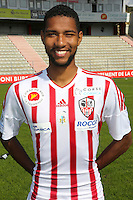 Marvin Gakpa during the photocall of Ac Ajaccio for new season on October 17th 2016<br /> Photo : Jean Pierre Belzit / Icon Sport