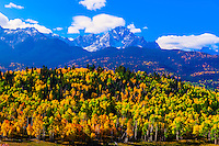 Autumn color, the Sneffels Range, near Ridgway, Colorado USA.