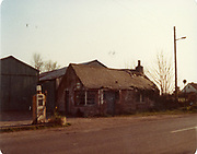 Old amateur photos of Dublin streets churches, cars, lanes, roads, shops schools, hospitals, Streetscape views are hard to come by while the quality is not always the best in this collection they do capture Dublin streets not often available and have seen a lot of change since photos were taken Morans Bike Shop Petrol Pump, Derelict Cottage , Lacken Pub Church May 1984