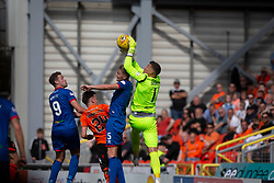 Dundee United's keeper Benjamin Siegrist. Dundee United 4 v 1 Inverness Caledonian Thistle, first Scottish Championship game of season 2019-2020, played 3/8/2019 at Tannadice Park, Dundee.