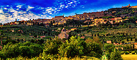 """Evening fog rolling down the hill of Cortona""…<br />