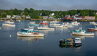 Lobster Boats, Bass Harbor, Maine.