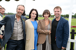 Left to right, JOHN HANNAH, singer DUFFY, JOANNA ROTH and ? at the 2013 Cartier Queens Cup Polo at Guards Polo Club, Berkshire on 16th June 2013.
