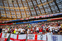 July 11, 2018 - Moscow, Russia - 180711 Fans of England prior to the FIFA World Cup semi final match between Croatia and England on July 11, 2018 in Moscow..Photo: Petter Arvidson / BILDBYRÃ…N / kod PA / 92085 (Credit Image: © Petter Arvidson/Bildbyran via ZUMA Press)