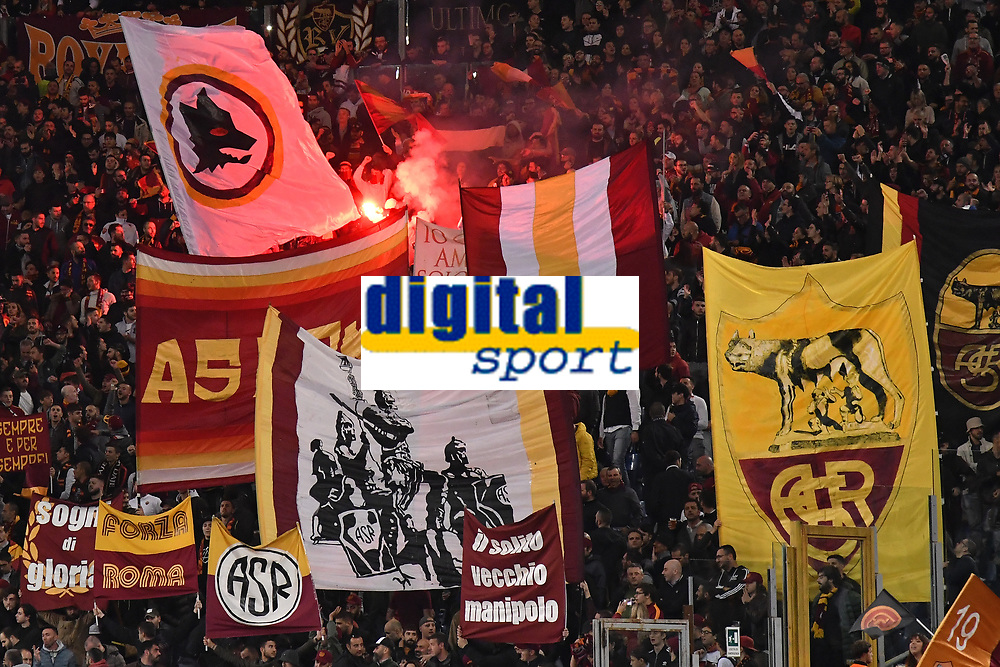 AS Roma fans prior to the Uefa Champions League 2018/2019 Group G football match between AS Roma and CSKA Moscow at Olimpico stadium Allianz Stadium, Rome, October, 23, 2018 <br />  Foto Andrea Staccioli / Insidefoto