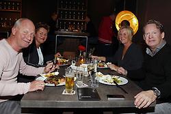 (L-R)  Ron de Groot,  Mario Been beiden met vrouw during the Jupiler League match between NEC Nijmegen and MVV Maastricht at the Goffert stadium on September 29, 2017 in Nijmegen, The Netherlands