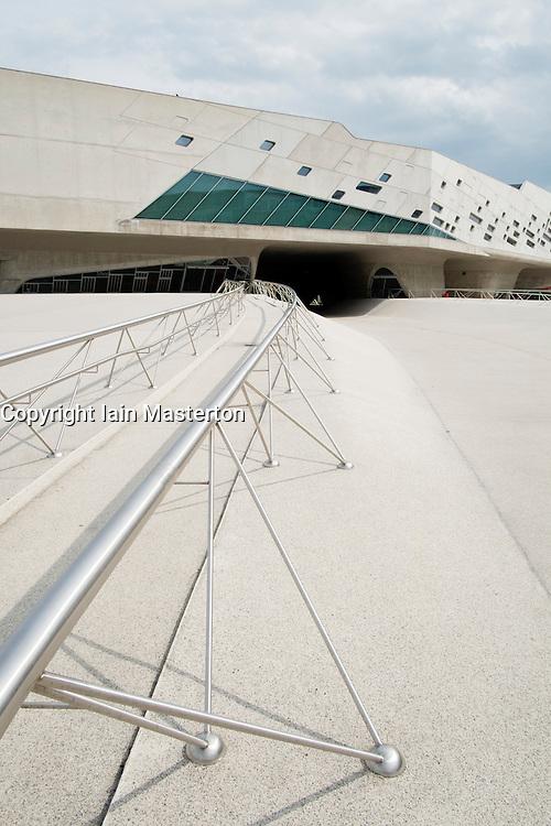 Exterior of Phaeno Science Center in Wolfsburg Germany ; Architect Zaha Hadid