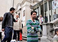 Vincenzo Iaquinta, Roberto Bettega (Presidente della Juventus) e Gialnluigi Buffon<br /> Visita dei giocatori della Juventus all Sacra Sindone a Torino<br /> Torino, 27/04/2010<br /> © Giorgio Perottino / Insidefoto