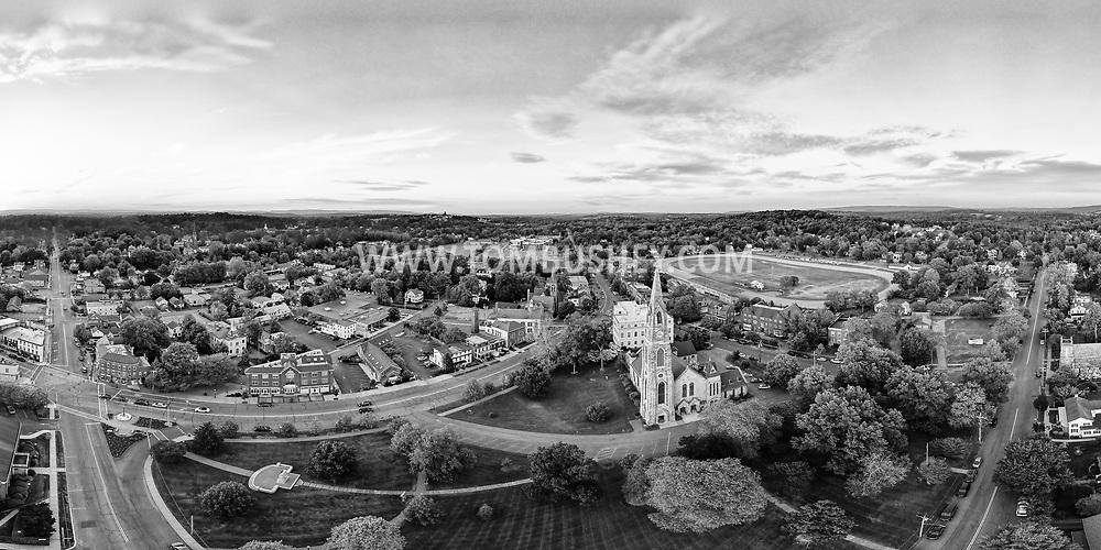 Aerial view of Goshen, N.Y., on May 27, 2021.
