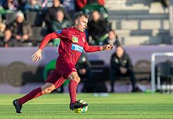 Frederik Mortensen (Skive IK) under kampen i 1. Division mellem FC Helsingør og Skive IK den 18. oktober 2020 på Helsingør Stadion (Foto: Claus Birch).