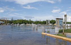 A view of already flooded Haulover Marine Center on Wednesday, September 6, 2017 in Miami Beach, FL, USA. Photo by David Santiago/Miami Herald/TNS/ABACAPRESS.COM