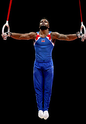 Great Britain's Courtney Tulloch competes on the rings in the Men's Gymnastics Team Final during day ten of the 2018 European Championships at the SSE Hydro, Glasgow.