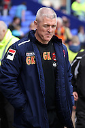 Carlisle United's Manager Graham Kavanagh prior to the game. Skybet football league 1 match, Tranmere Rovers v Carlisle United at Prenton Park in Birkenhead, England on Saturday 29th March 2014.<br /> pic by Chris Stading, Andrew Orchard sports photography.