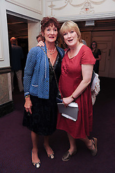 Left to right, JANE ORMSBY GORE and SUE CREWE at the Yota launch of Mikhailovsky Ballet's Swan Lake held at the London Coliseum, St.Martin's Lane, London on 13th July 2010.