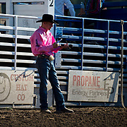 The man the legend at the Darby MT Elite Proffesionals Bull Riding Event July 7th 2017.  Photo by Josh Homer/Burning Ember Photography.  Photo credit must be given on all uses.