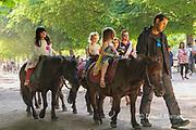 France, Paris, Luxembourg Garden, Pony ride