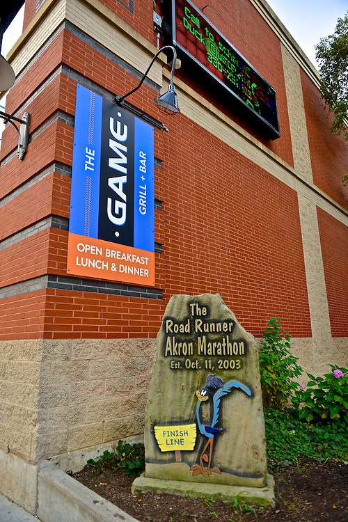 Exterior of The Game Grill+Bar at Canal Park.