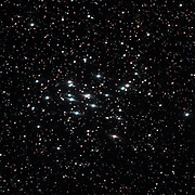 The Beehive Cluster (Messier 44) in constallation Cancer, lying only about 600 l.y. from Earth.