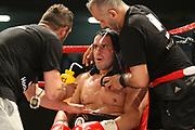 Boxing: Cruiserweight, WBO European Championship, Nuri Seferi (ALB) - Tamas Lodi (HUN), Hamburg, 16.05.2014<br /> Nuri Seferi (ALB) and coach Oktay Urkal (l.)<br /> ©Torsten Helmke