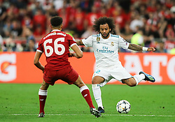 Marcelo of Real Madrid during the UEFA Champions League final football match between Liverpool and Real Madrid at the Olympic Stadium in Kiev, Ukraine on May 26, 2018. Photo by Andriy Yurchak / Sportida