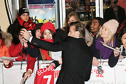 © Licensed to London News Pictures. David Beckham attends The Class of 92  World Film Premiere at The Odeon West End, Leicester Square, London on 01 December 2013. Photo credit: Richard Goldschmidt/LNP