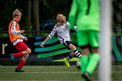 Mink #11 of VV Maarssen  in action. VV Maarssen O14-1 played a friendly game against CDW O15-2. Maarssen won 9-2 on July 11, 2020 at Daalseweide sports park Maarssen.