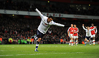 Fotball<br /> England<br /> Foto: Fotosports/Digitalsport<br /> NORWAY ONLY<br /> <br /> Aaron Lennon Celebrates Scoring 4th Goal<br /> Tottenham Hotspur 2008/09<br /> Arsenal V Tottenham Hotspur (4-4) 29/10/08<br /> The Premier League