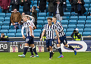 Steve Morison of Millwall celebrates scoring the winner during the FA Cup match at The Den, London<br /> Picture by Liam McAvoy/Focus Images Ltd 07413 543156<br /> 29/01/2017