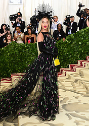 Rita Ora attending the Metropolitan Museum of Art Costume Institute Benefit Gala 2018 in New York, USA.