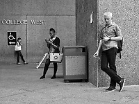 Texting at Hunter College in New York City