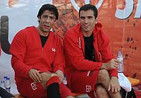20090606: LISBON, PORTUGAL - Luis Figo Sagres Street Football - Luis Figo Sagres Street Football - Luis Figo Team vs Rui Costa Team. In picture: Rui Costa and Pauleta. PHOTO: Alvaro Isidoro/CITYFILES