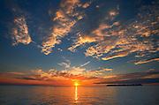 CLouds above Lake Manitoba at sunset<br /> Steep Rock<br /> Manitoba<br /> Canada