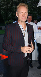 Singer STING at a party to celebrate the opening of Roger Vivier in London held at The Orangery, Kensington Palace, London on 10th May 2006.<br /><br />NON EXCLUSIVE - WORLD RIGHTS