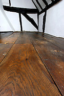 oak floorboards and oak frame in 17th century cottage