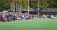GROENEKAN - Het complex met clubhuis van hockeyclub Voordaan tijdens de hoofdklasse hockeywedstrijd tussen de mannen van Voordaan en Bloemendaal (3-7). FOTO KOEN SUYK