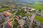 The Western State Colorado University campus as seen from the air.