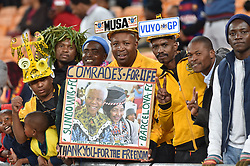 Supporters at the FNB stadium for the Mamelodi Sundowns and Barcelona FC for the Mandela Centenary Cup at FNB.<br />Picture: Itumeleng English/African News Agency (ANA)