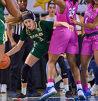 UAB Blazers guard Angela Vendrell (3) during the UAB Blazers at Middle Tennessee Blue Raiders college basketball game in Murfreesboro, Tennessee, Thursday, February, 20, 2020.<br /> Photo: Harrison McClary/All Tenn Sports