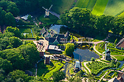 Nederland, Gelderland, Arnhem, 29-05-2019; hart van het Nederlands Openluchtmuseum, met de Kasteelboerderij (restaurant). Thema de Nederlandse geschiedenis.<br /> Netherlands Open Air Museum. luchtfoto <br /> <br /> luchtfoto (toeslag op standard tarieven);<br /> aerial photo (additional fee required);<br /> copyright foto/photo Siebe Swart