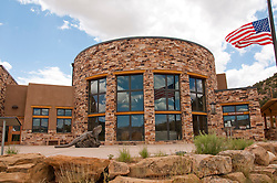 USA, Utah, in Escalante the Escalante Interagency Visitor Center, the one stop information source for the National Parks, National Forests, and BLM Bureau of Land Management.
