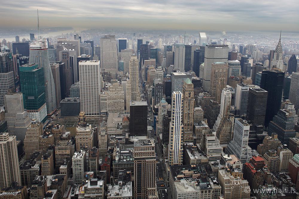 Manhattan in New York from Empire State - Manhattan í New York séð frá Emipre State