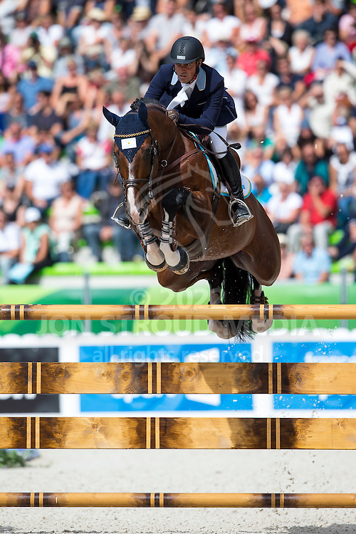 Alexis Trosch, (ARG), Remonta Parforce Cooper - Team & Individual Competition Jumping Speed - Alltech FEI World Equestrian Games™ 2014 - Normandy, France.<br /> © Hippo Foto Team - Leanjo De Koster<br /> 02-09-14