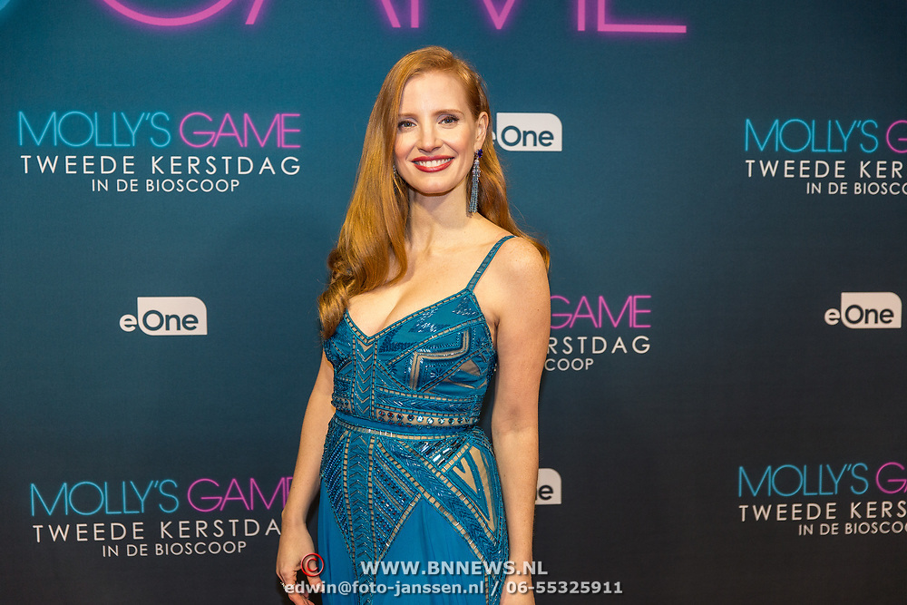 NLD/Amsterdam/20171212 - Première Molly's Game, Jessica Chastain